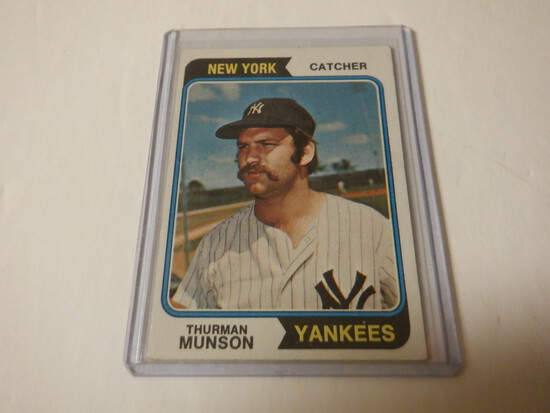 1974 TOPPS THURMAN MUNSON #340 NEW YORK YANKEES
