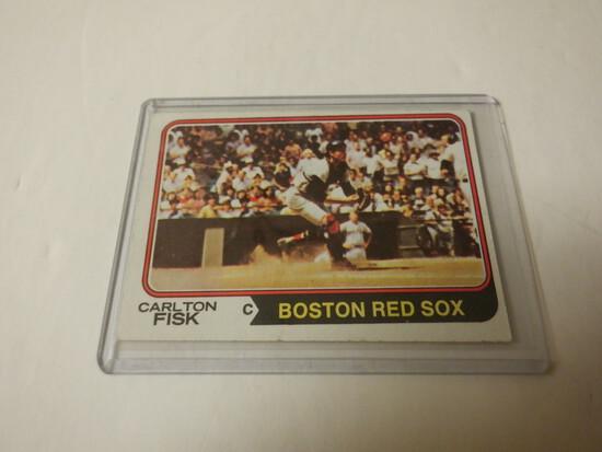 1974 TOPPS CARLTON FISK #105 BOSTON RED SOX