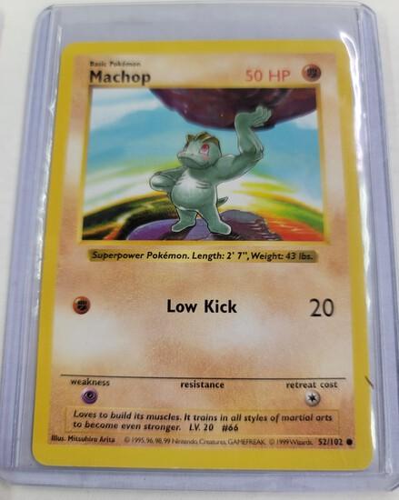 Original POKEMON Base Set SHADOWLESS Machop #52/102 Common Card