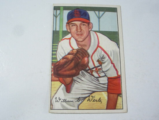 1952 Bowman #248 Bill Werle