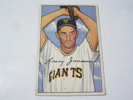 1952 Bowman #90 Larry Jansen