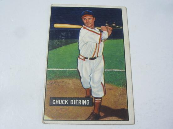 1952 Bowman #158 Chuck Diering