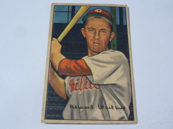 1952 Bowman #92 Eddie Waitkus