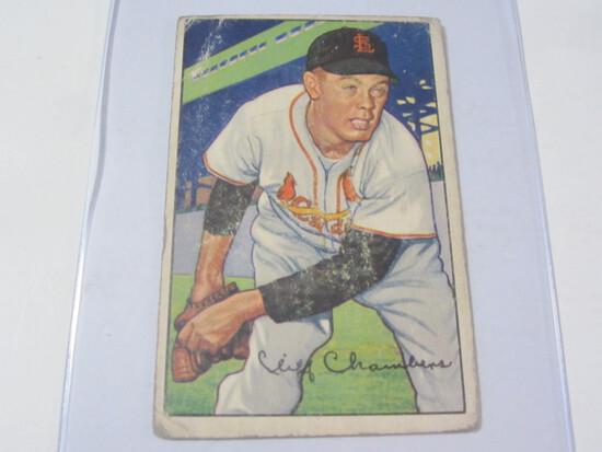 1952 Bowman #14 Cliff Chambers