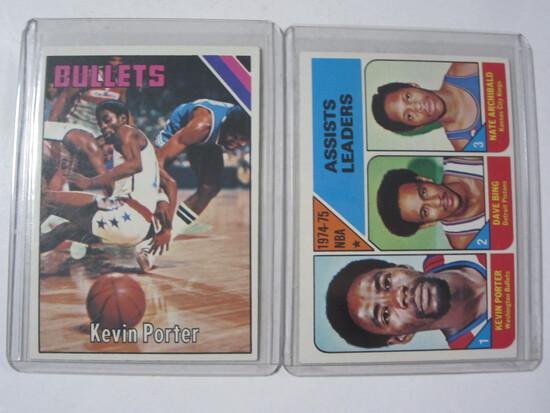 (2) Kevin Porter Washington Basketball Card Lot