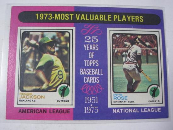 Reggie Jackson Pete Rose 1975 Topps MVP Players #211