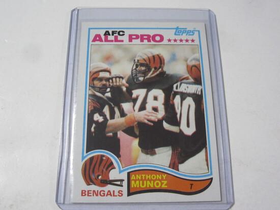Anthony Munoz Cincinnati Bengals 1982 Topps Rookie #51