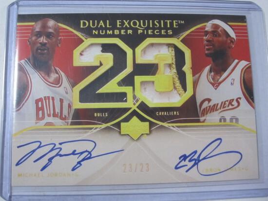 Michael Jordan LeBron James Dual Exquisite Reprint DEN-JJ