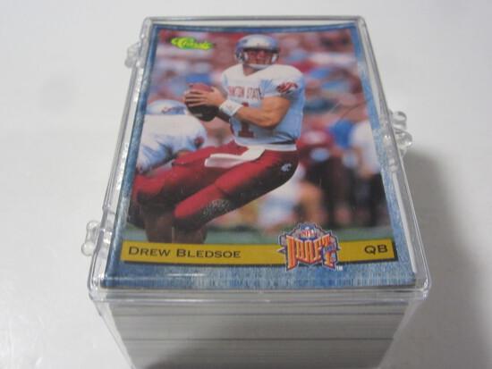 1993 Classic Football Draft Set Drew Bledsoe Garrison Hearst Jerome Bettis +more