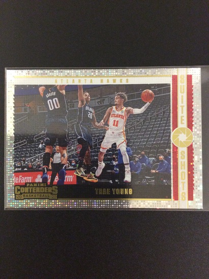 2020-21 Contenders basketball Trey Young Suite Shots SP