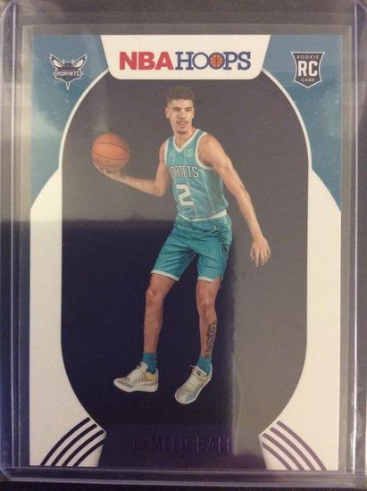 2020-21 NBA Hoops Holiday LaMelo Ball Purple Foil SP