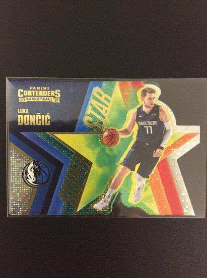 "2020-21 Contenders basketball Luka Doncic ""Super Star"" die-cut foil"