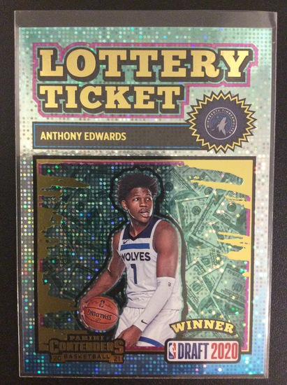 2020-21 Contenders basketball Anthony Edwards Lottery Ticket SP