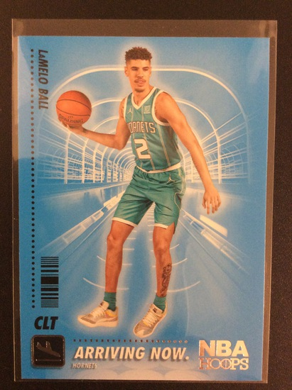 """2020-21 NBA Hoops LaMelo Ball """"Arriving Now"""" RC lot"""