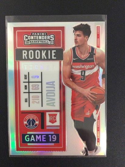 "2020-21 Contenders basketball Deni Avdija ""Rookie Ticket"" variation prizm"