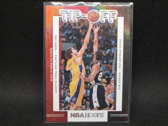 NBA Hoops 2019/2020 Tipoff Insert Pau Gasol Tim Duncan