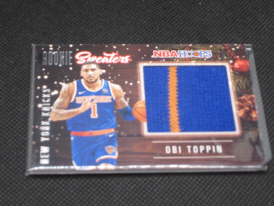 Obi Toppin NBA Hoops Sweaters Rookie 2 color Patch! Knicks