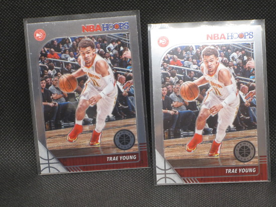 2019-2020 Trae Young NBA Hoops Premium Stock Cards Lot (2)