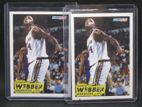 Chris Webber Fleer 93,94 #292 Lot(2)