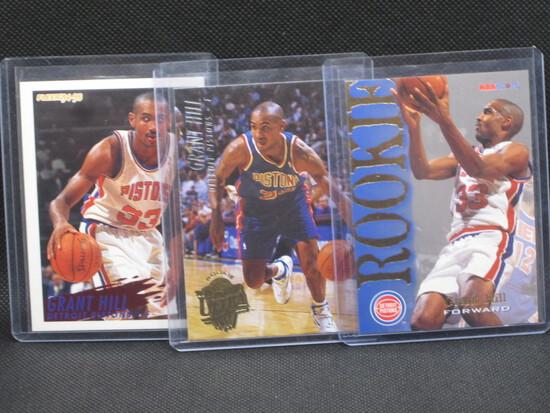 Lot(3) Grant Hill Rookie Cards NBA Hoops/ Fleer Ultra/ Fleer
