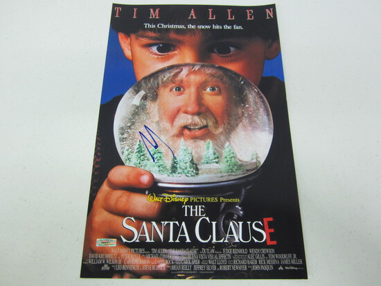 TIM ALLEN AUTOGRAPHED THE SANTA CLAUSE MOVIE POSTER W/COA