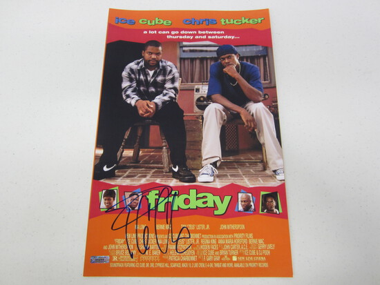 ICE CUBE AUTOGRAPHED FRIDAY MOVIE POSTER W/COA