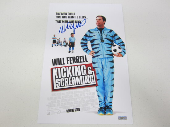 WILL FERRELL AUTOGRAPHED KICKING AND SCREAMING MOVIE POSTER W/COA