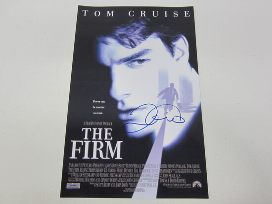 TOM CRUISE AUTOGRAPHED THE FIRM MOVIE POSTER W/COA