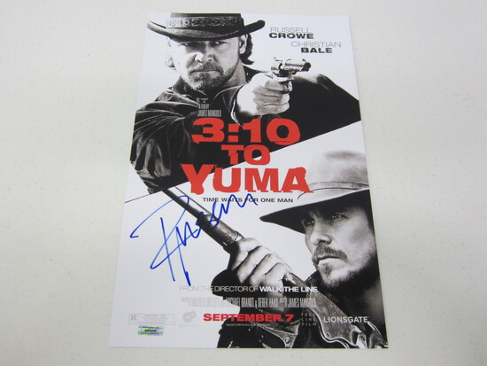 RUSSELL CROWE AUTOGRAPHED 3:10 TO YUMA MOVIE POSTER W/COA