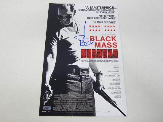 JOHNNY DEPP AUTOGRAPHED BLACK MASS MOVIE POSTER W/COA