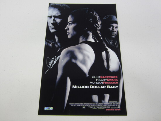CLINT EASTWOOD AUTOGRAPHED MILLION DOLLAR BABY MOVIE POSTER W/COA
