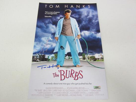 TOM HANKS AUTOGRPAHED THE BURBS MOVIE POSTER W/COA