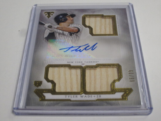 Topps Triple Threads Tyler Wade Rookie game used bat Auto /99