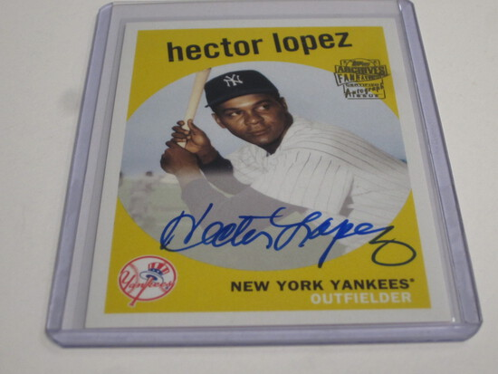 2018 Topps Archives auto Hector Lopez Yankees