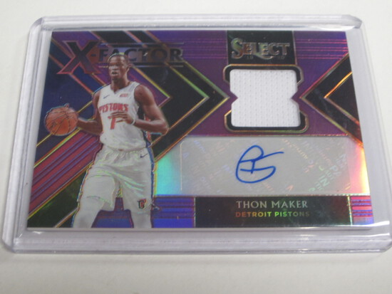 2019/20 Panini Select Thon Maker Patch Auto X Fractor 63/99