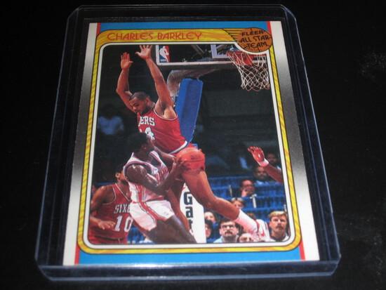 CHARLES BARKLEY 1988 FLEER - ALL STAR TEAM #129 76ERS!  TOP 20 GOAT/HOF'ER!