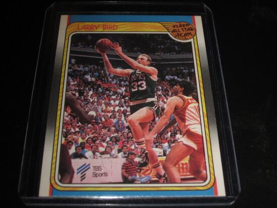 LARRY BIRD 1988 FLEER - ALL STAR TEAM #124 BOSTON!  TOP 10 GOAT/HOF'ER!