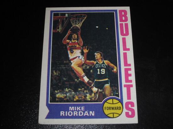 MIKE RIORDAN 1974 TOPPS #102 BULLETS!
