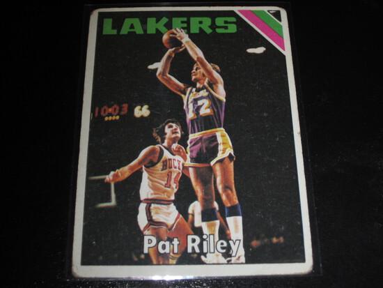 PAT RILEY 1975-76 TOPPS BASKETBALL LOS ANGELES LAKERS KENTUCKY PAT RILEY HOF CARD #71