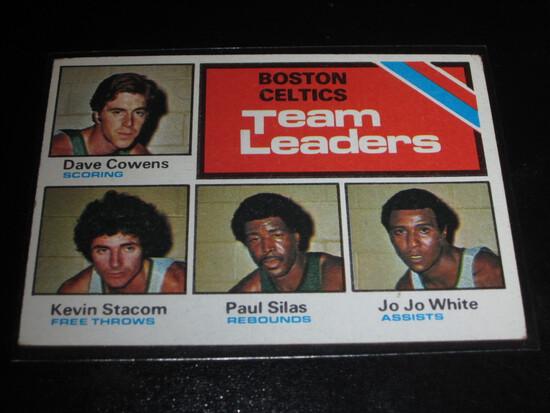 1975 Topps Basketball #117 Boston Celtics Team Leaders #117