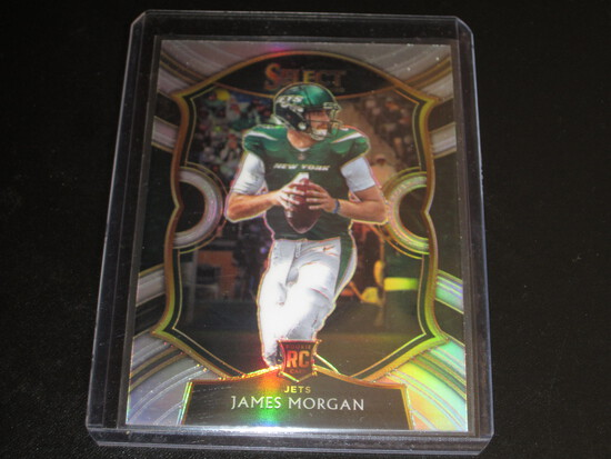 JAMES MORGAN RC/ROOKIE! 2020 PANINI SELECT COUNCOURSE SILVER PRIZM #84 JETS!