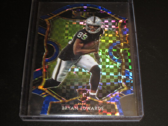 BRYAN EDWARDS RC/ROOKIE! 2020 PANINI SELECT CONCOURSE BLUE CHECKERBOARD #76 DIE CUT