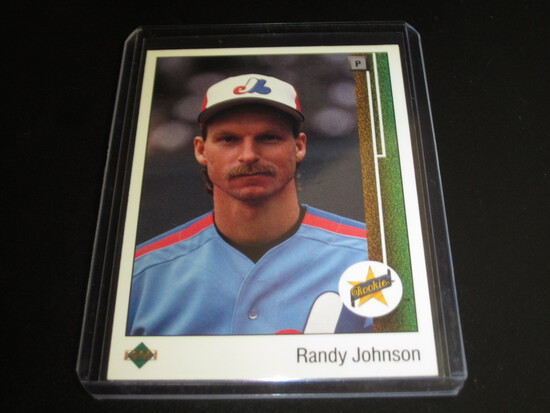 RANDY JOHNSON ROOKIE/RC! 1989 UPPER DECK #25 TOP GOAT PITCHER! WHEN ON THE EXPOS!