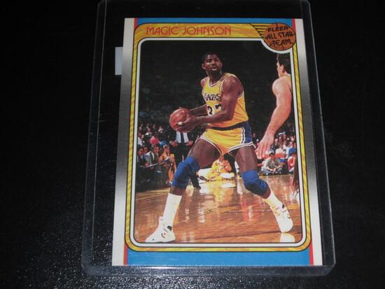 MAGIC JOHNSON 1988 FLEER - ALL STAR TEAM #123 LAKERS!  TOP 5 GOAT/HOF'ER!