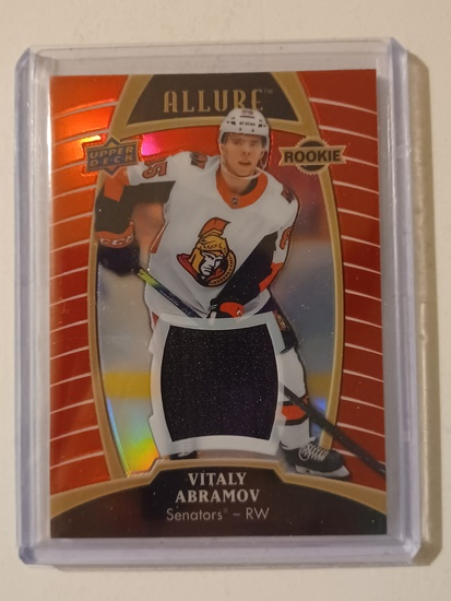 VITALY ABRAMOV RC/ROOKIE! 2020 UDC #84 RED RAINBOW JERSEY PATCH