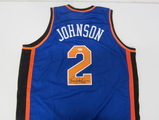 Larry Johnson New York Knicks signed autographed basketball jersey PSA COA