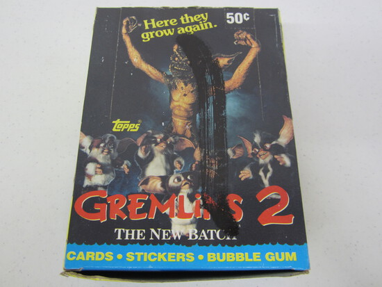 Gremlins 2 Topps collectors card box 36 packs sealed