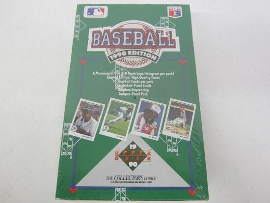 1990 Upper Deck Baseball SEALED box 36 packs per box