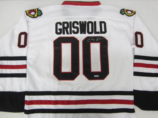 Chevy Chase Christmas Vacation signed autographed Griswold hockey jersey Certified COA