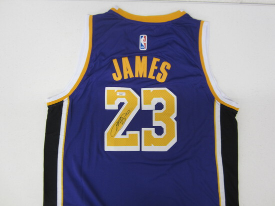 LeBron James Los Angeles Lakers signed autographed basketball jersey Certified COA